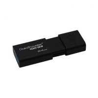 KINGSTON Chiavetta USB 64 GB DataTraveler 100 G3 Interfaccia USB 3.0 Colore Nero